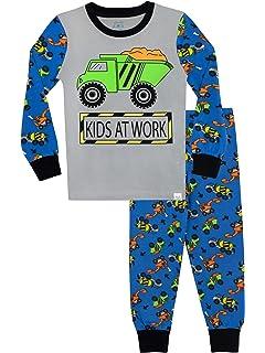 Harry Bear Pijamas de Manga Larga para niños Niños en el Trabajo Ajuste Ceñido
