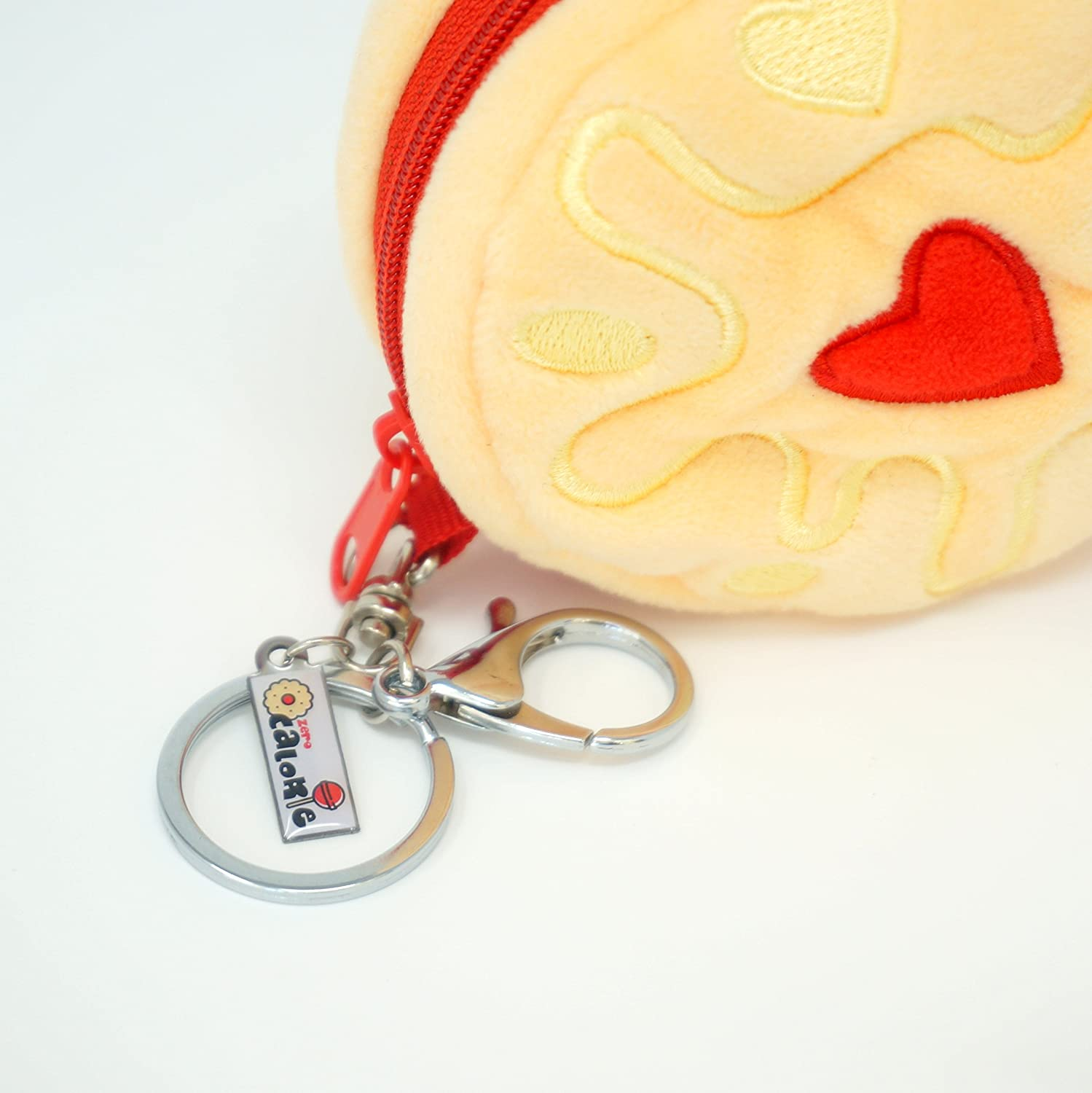 Zero Calorie Jammy Biscuit Coin Purse with Keyring Cute Plush Christmas Valentine Gift Stockings Filler