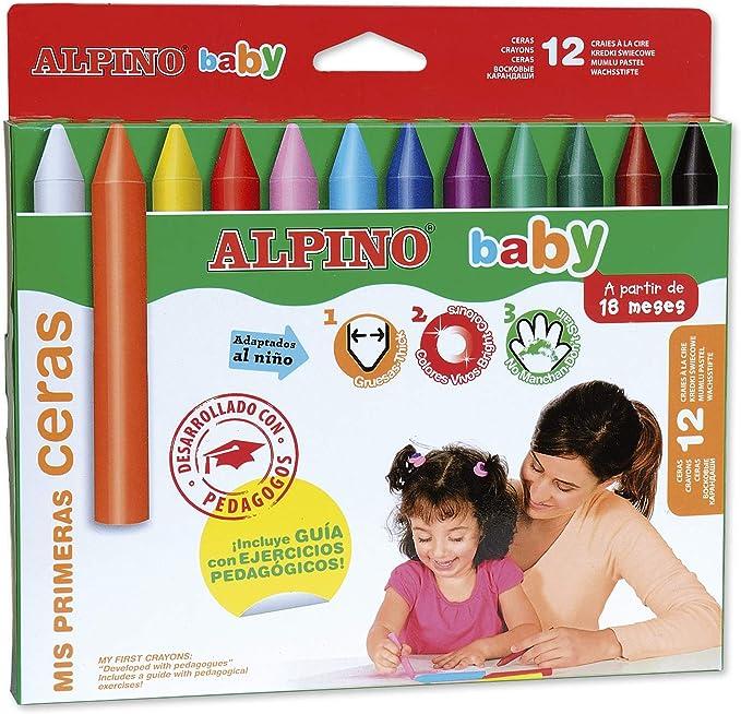 Ceras Alpino Baby Estuche DE 12: Amazon.es: Oficina y papelería