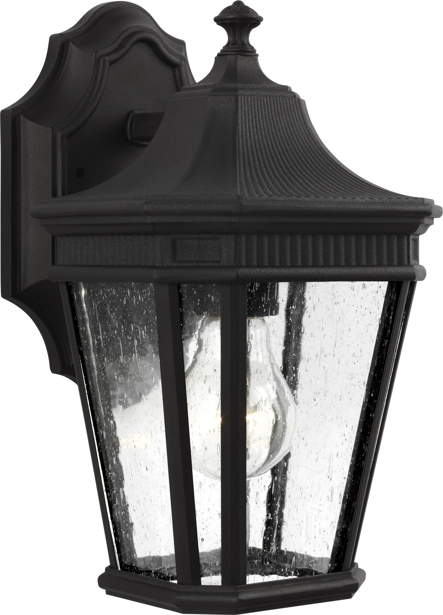Feiss OL5420BK Cotswold Lane Outdoor Patio Lighting Wall Lantern, Black, 1-Light (7''W x 12''H) 100watts