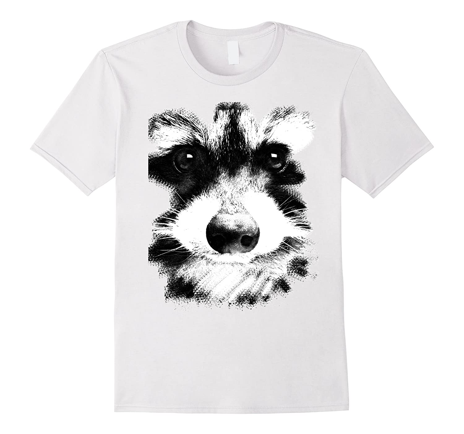 Racoon Face Animal Colored T-Shirt-CL