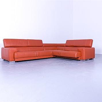Amazonde Calia Italia Designer Leder Ecksofa Orange Couch