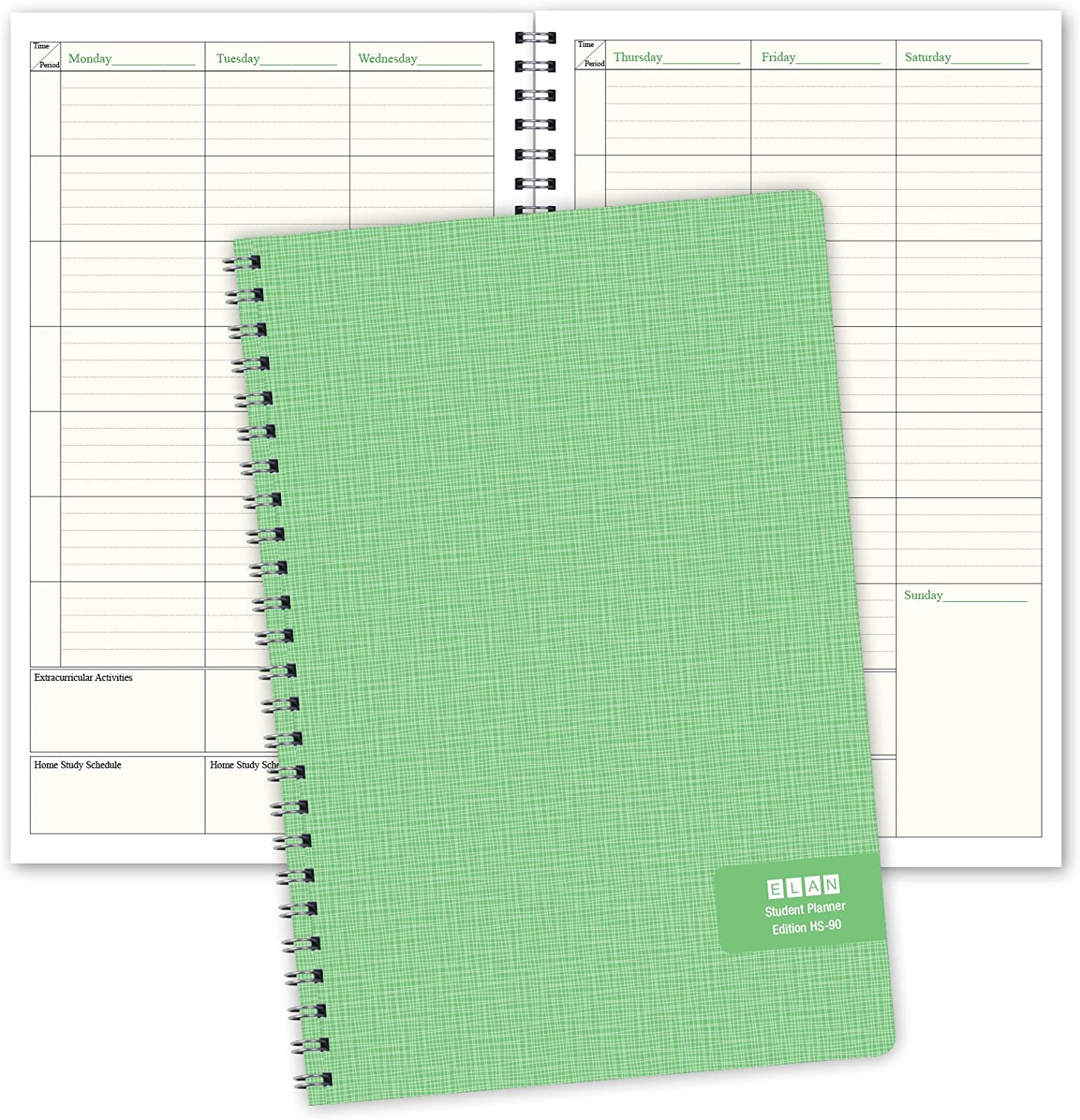 Deluxe Full-Year Student Planner for High School 40 Weeks (HS-90)