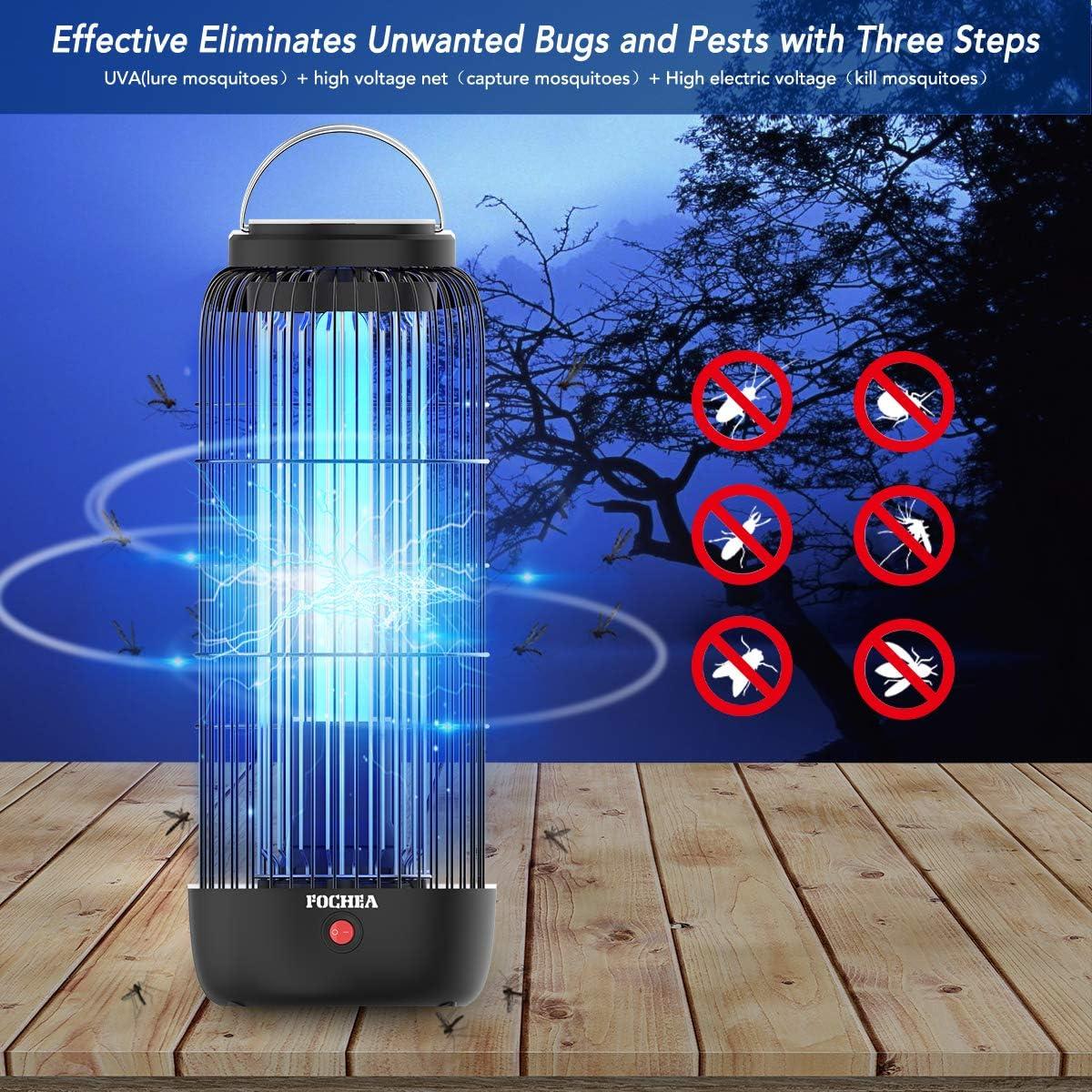 FOCHEA L/ámpara Anti Mosquitos Insectos 11W 40m/² UV Mata Mosquitos Electrico Moscas Mata Insectos Electrico de Exterior y Interior Silencio para Mosquitos