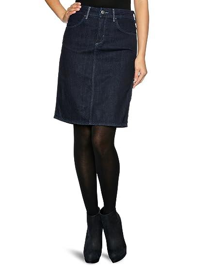 Wrangler - Falda con Corte en a para Mujer, Talla 36, Color Azul ...