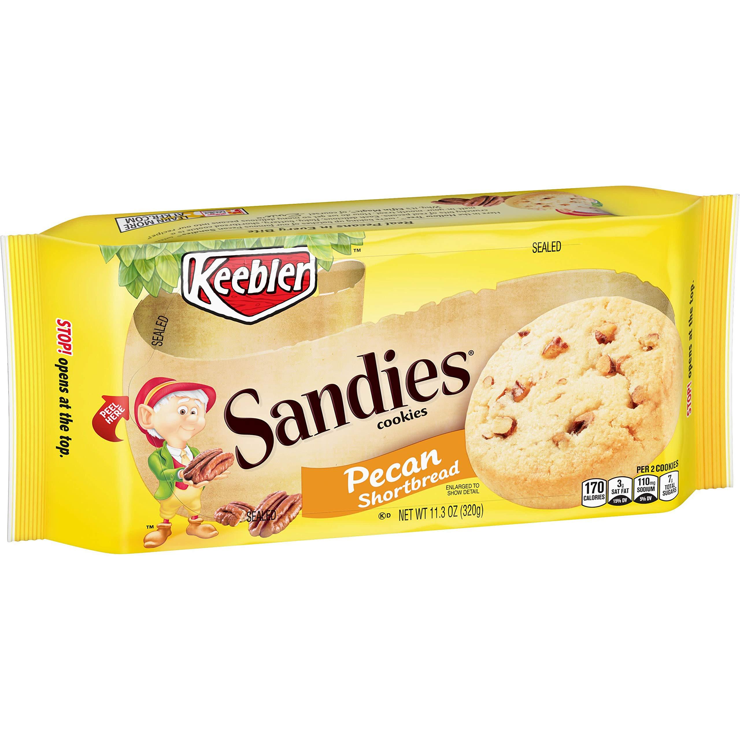 Keebler SandiesCookies, Pecan Shortbread, 11.3oz Tray