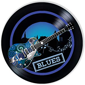 Blues Vinyl Decor, Wall Decor Painted Blues, Original Gifts for Music Lovers, The Best Gift for Souvenir, Unique Wall Art Home Decor