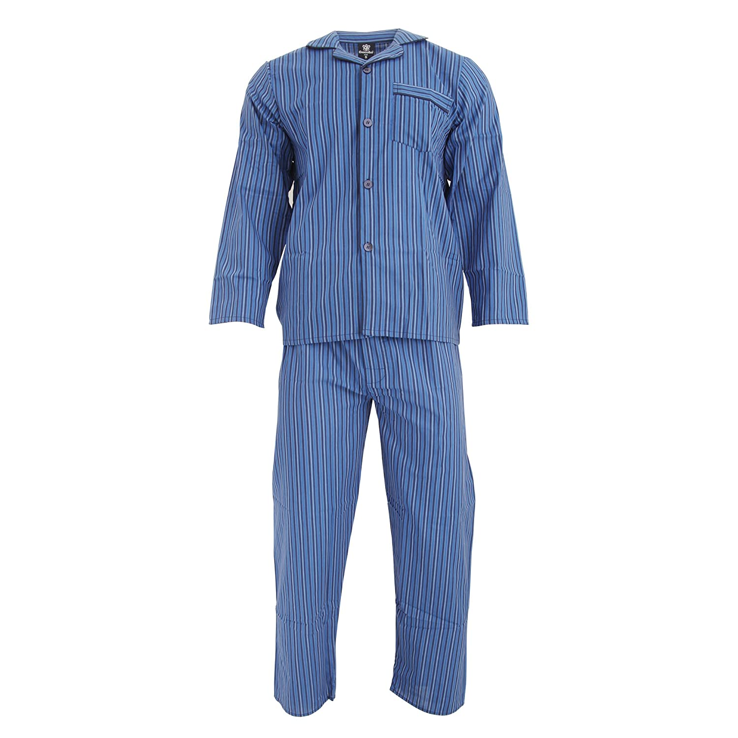 Cargo Bay Mens Woven Striped Pyjama Set