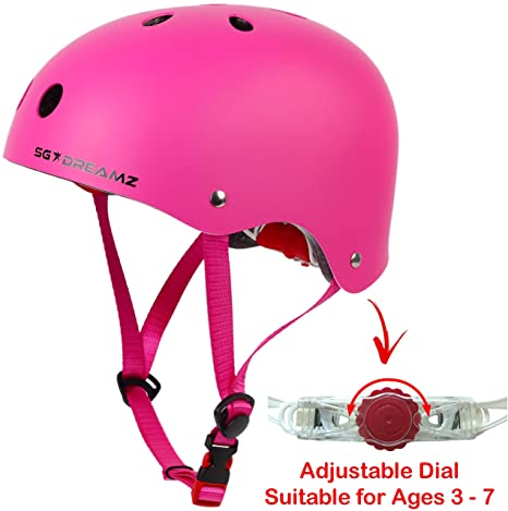 b477dcb024d Kids Helmet – Multi-Sport for Skateboard Cycling Skate Scooter Roller  Bicycle - Adjustable from Toddler to Youth for Boys and Girls Ages 3 to 7 -  Certified ...