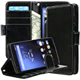 OnePlus One Case, OnePlus One Wallet Flip Case by E LV - Premium PU Leather Wallet Flip Case Cover for OnePlus...