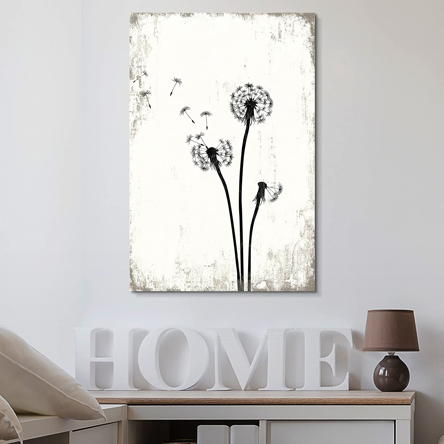 Dandelion Seeds on Rustic Background Wall Decor, That You Will Love, Dazzling Creative Design