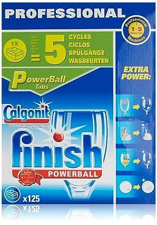 Finish Pastillas para lavavajillas Profesional - 125 pastillas ...