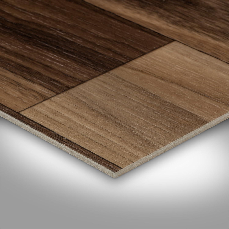 BODENMEISTER BM70568 PVC CV Vinyl Bodenbelag Auslegware Holzoptik Schiffsboden Nussbaum 200 Variante: 2 x 2 m 300 und 400 cm breit verschiedene L/ängen