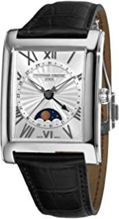 Frederique Constant Mens FC-330MS4MC6 Carree Moonphase Silver Moonphase Dial Watch