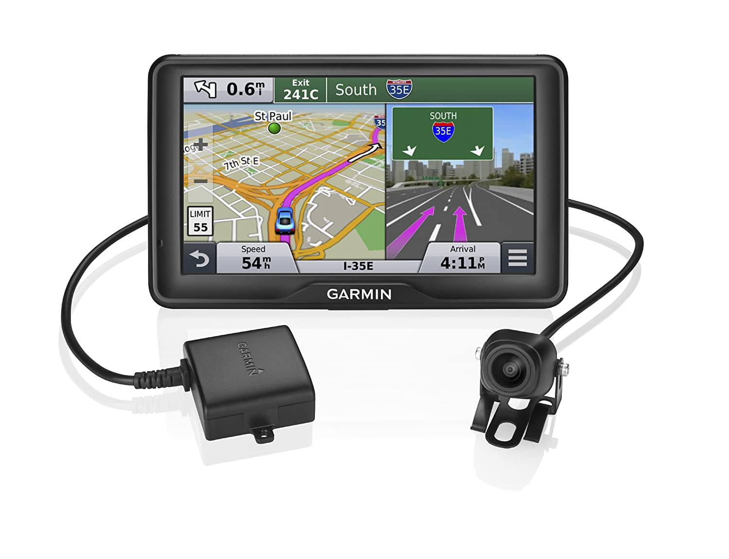 Amazon com garmin n vi 2798lmt portable gps with backup camera cell phones accessories