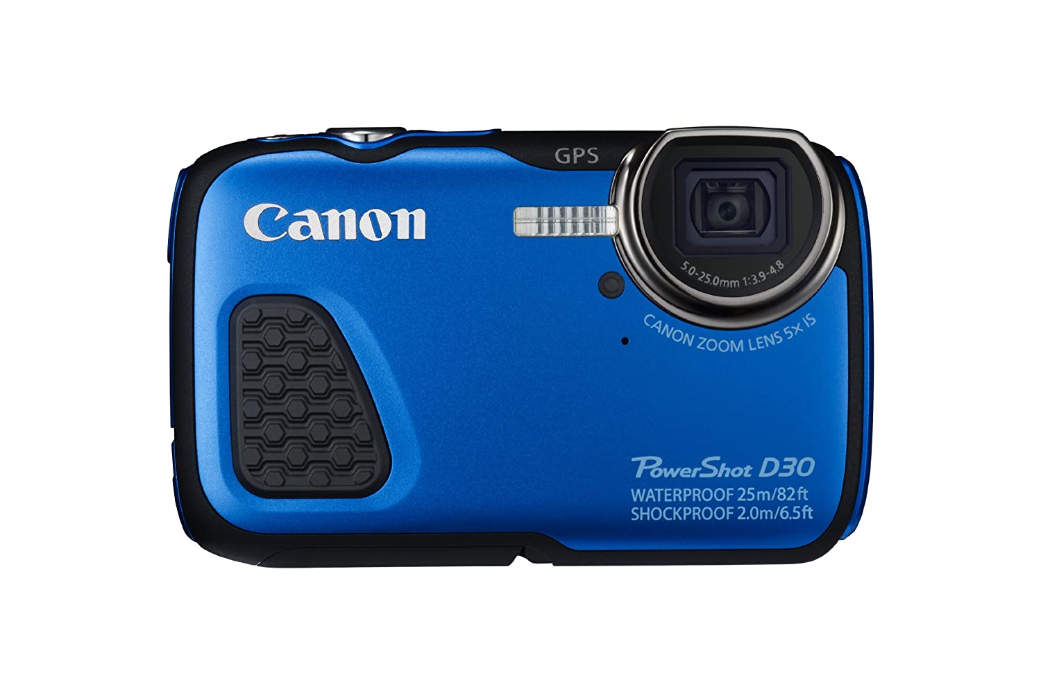Amazon.com : Canon PowerShot D30 Waterproof Digital Camera, Blue ...