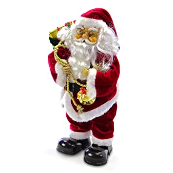 Weihnachtsmann singend tanzend Santa Claus animierter Nikolaus ...