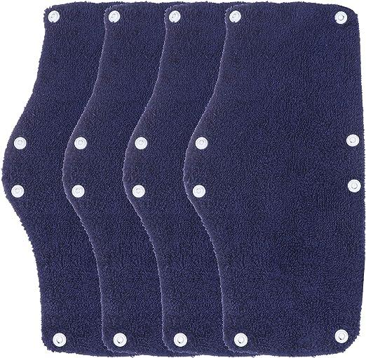 10 Pack Hard Hat Sweatband Cotton Sweatband Hard Hat Liner Washable Hard Safety Hat Sweatband Blue Sweatband Snap Hard Hat Accessories