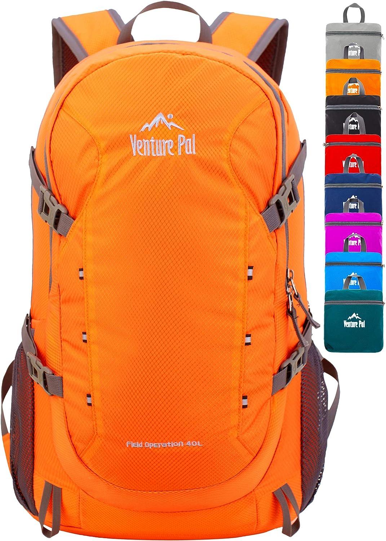 Venture Pal 40L Lightweight Packable Waterproof Travel Hiking Backpack Daypack