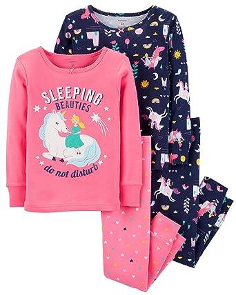 eddcf618f05f Amazon.com  Carter s Toddler Girls Pajamas PJs 4pc Cotton Snug ...