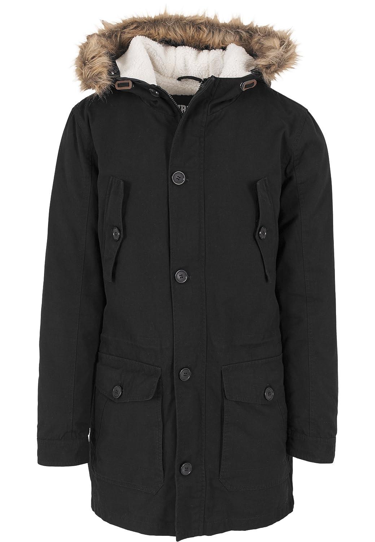 Urban Classics Men's Plain Long Sleeve Jacket Black Black