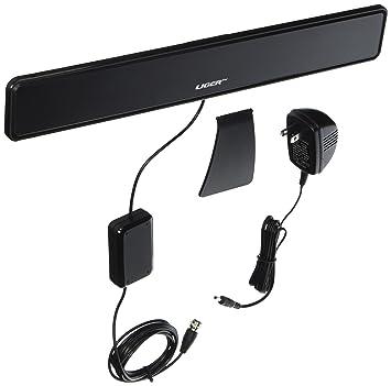 Antena para la televisión de interior Linge, ultra fina, con cable coaxial
