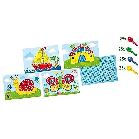 Ses 14898 Creative 14898 Mosaikbrett Mit Vorlagen Amazonde Spielzeug