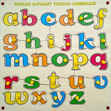 Webby Premium Wooden Small Alphabets A to Z Educational Puzzle Toy