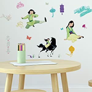 RoomMates Mulan Peel and Stick Wall Decals