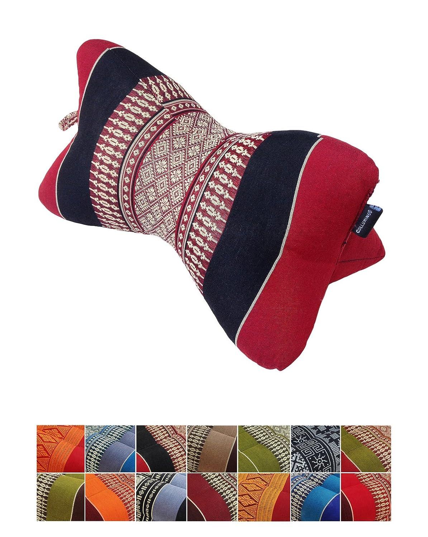 Noir, Rouge Collumino Traditionnel tha/ï kapok Support de Cou doreiller de Massage pour Le Yoga ou de Relaxation