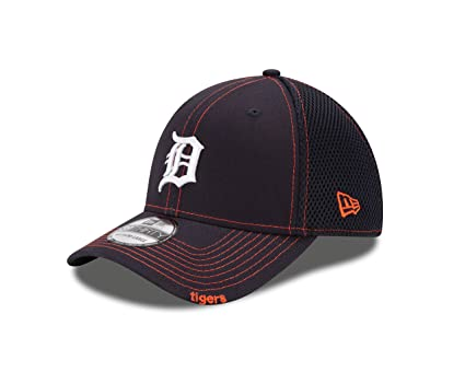 super cute 6100d 8bb6c Detroit Tigers Navy 39THIRTY Neo Stretch Fit Hat