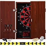 Viper by GLD Products Neptune Electronic Dartboard Cabinet Combo Pro Size Over 55 Games Large Auto-Scoring LCD Cricket Displa