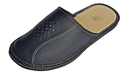 dfa7ce32e32 Reindeer Leather Mens House Slipper –Genuine Sheepskin Leather Closed Toe  Slippers with Breathable & Odor Resistant Sole, Therapeutic Foot Bed & ...