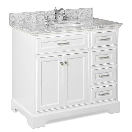 White Bathroom Vanity 36. Aria 36 Bathroom Vanity Carrarawhite