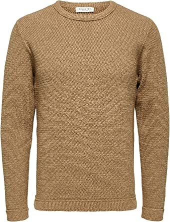 Selected SLHVICTOR - Jersey de Punto para Hombre (Cuello Redondo ...