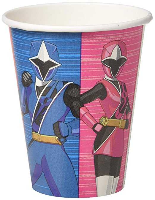 amscan Power Rangers Ninja Steel 9oz Paper Party Cups, 8 ...