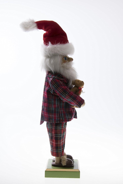 Tem/ática navide/ña Galletas y Osito de Peluche Clever Creations 100/% Madera 30,5 cm Pap/á Noel en Pijama con Leche Cascanueces Tradicional de Navidad Coleccionable