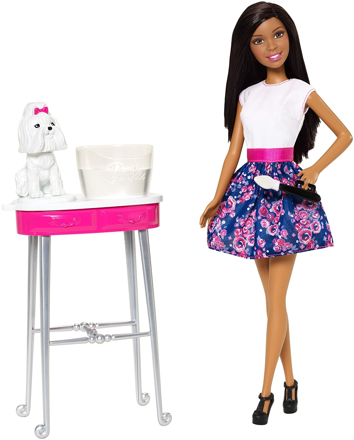 Amazon.com: Barbie Color Me Cute African-American Doll: Toys & Games