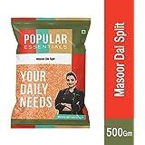Popular Essentials Premium Masoor Dal Pouch, 500 g