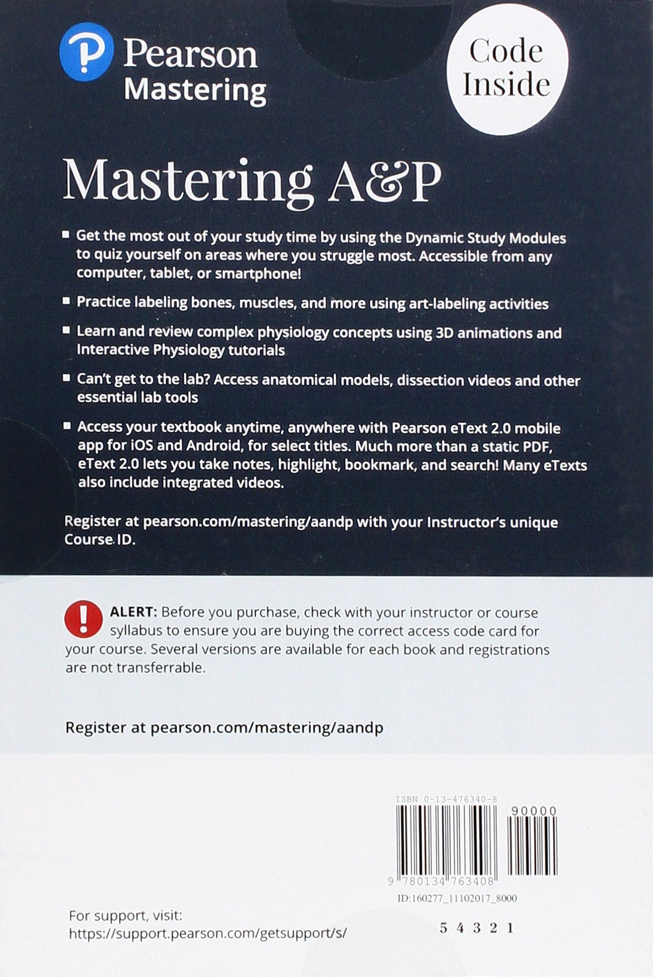 Mastering A&P with Pearson eText -- Standalone Access Card