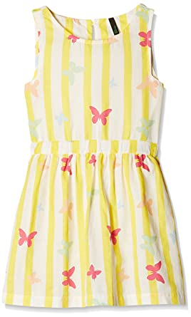 12bf9dff5db8 United Colors of Benetton Girls  Dress  Amazon.in  Clothing ...
