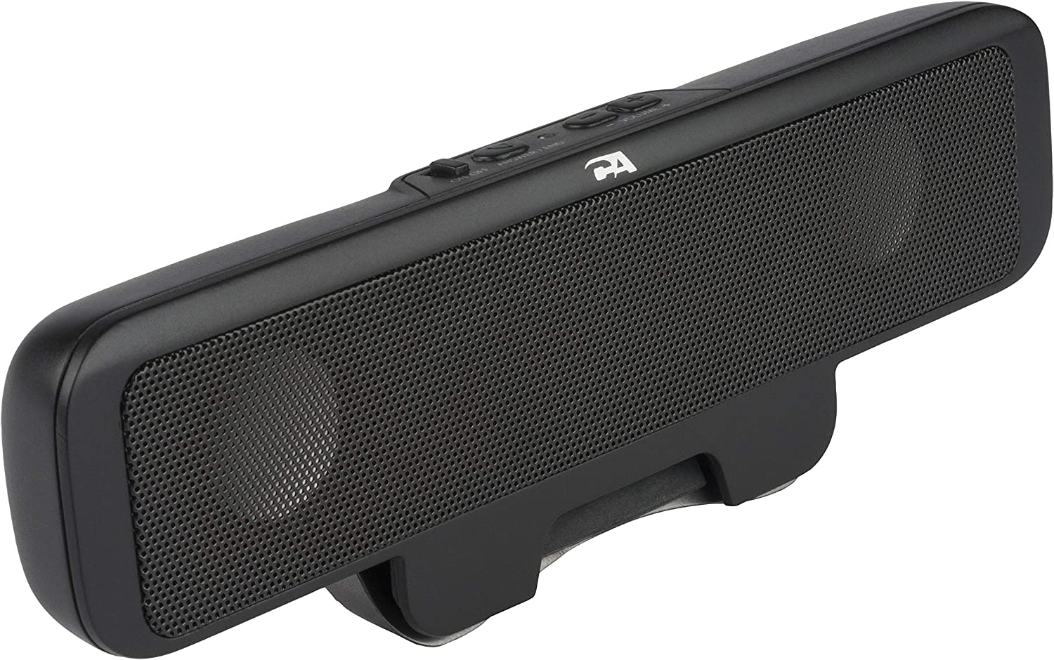 Cyber Acoustics Portable USB Bluetooth Speaker for Laptop Computer -  Clip-On Rechargeable Bluetooth Sound Bar Designed for Laptops,Cell Phones  and