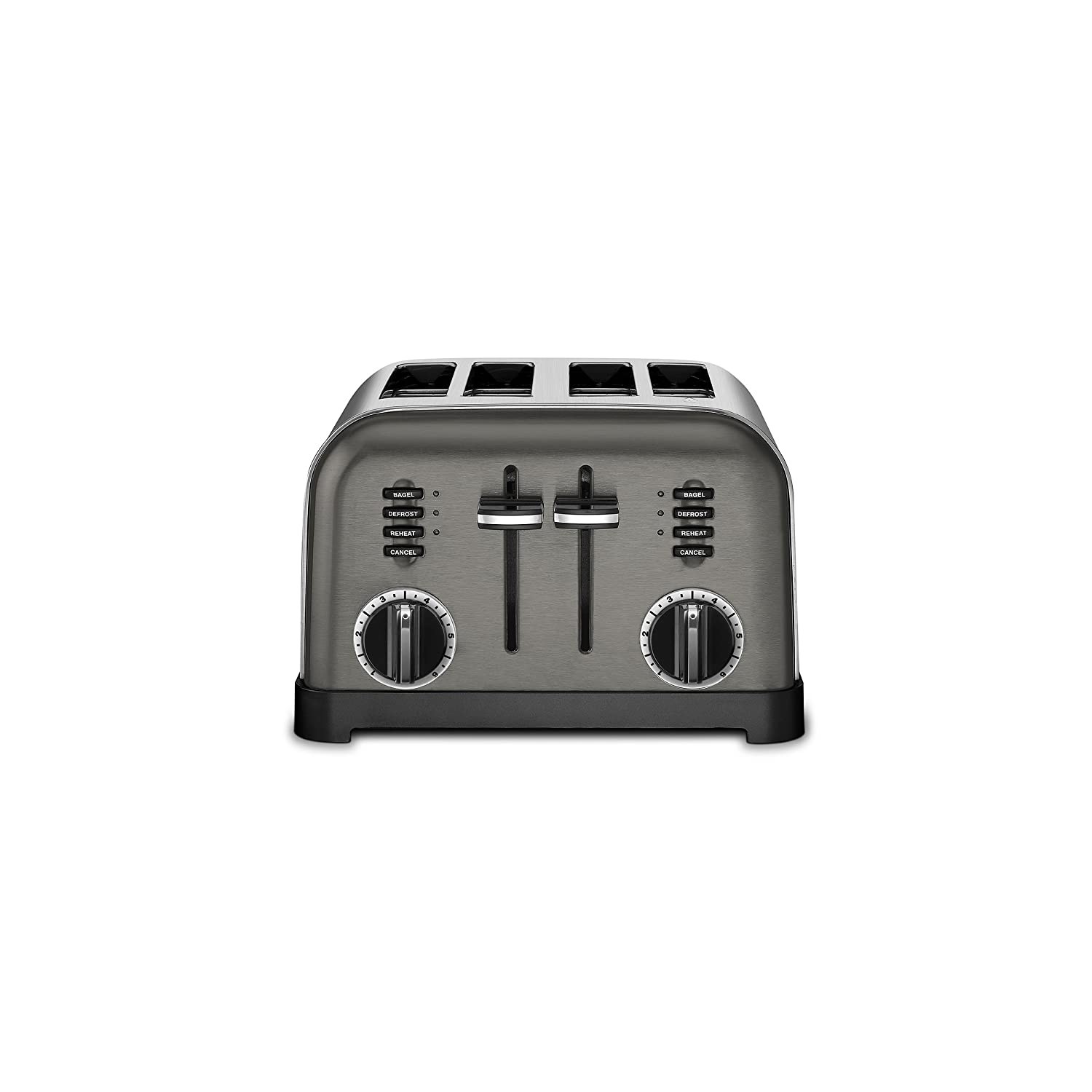 Cuisinart CPT-180BKS Metal Classic Toaster 4-Slice Black Stainless