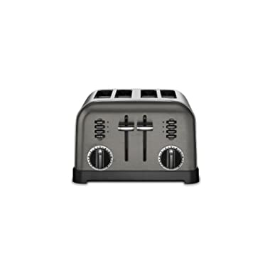 Cuisinart CPT-180BKS Metal Classic Toaster, 4-Slice, Black Stainless