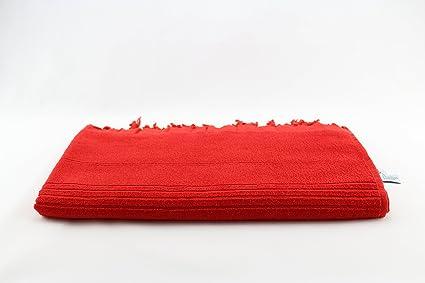 """Rizo 2 in1 Toalla Playa Toalla Color Rojo Rubí de """"My Hamam Sauna"""