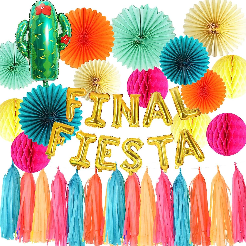 Qian's Party Final Fiesta Banner Mexican Fiesta Theme Party Decor Bachelorette Party Decor Supplies Tropical Party, Luau Party, Hawaiian Party Theme,