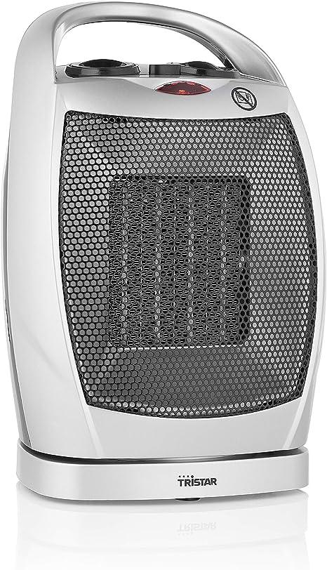 Tristar KA-5038 Calefactor eléctrico, 1500 W, Gris y plata