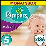 Pampers Premium Protection Active Fit Windeln Gr.5 (Junior) 11-23 kg Monatsbox, 136 Stück