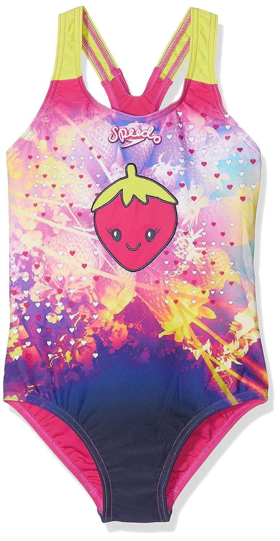 Speedo Girls' Starfizz Essential Applique Swimwear (1-Piece)