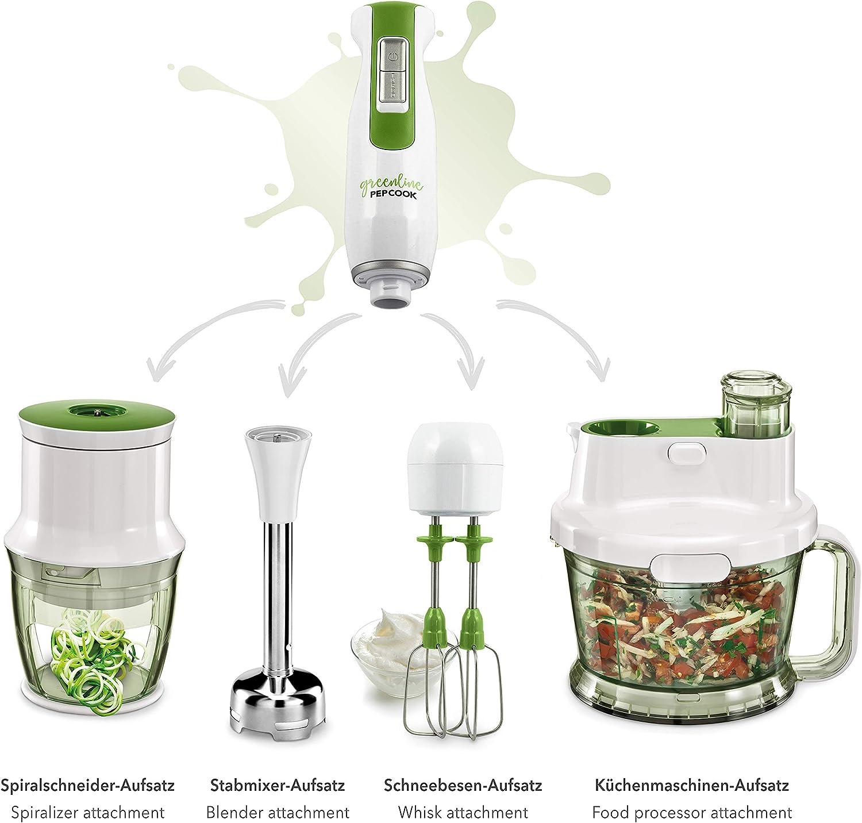 PEPCOOK Greenline Hand Blender Set: : Küche & Haushalt
